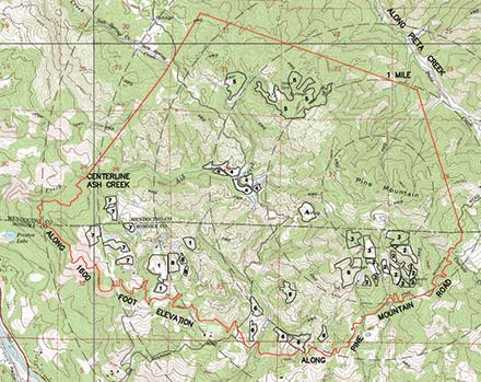 Map of the Pine Mountain - Cloverdale Peak AVA